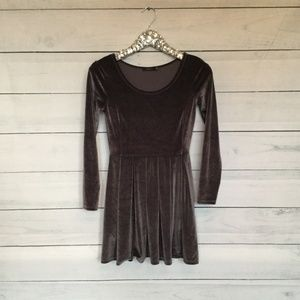 Talula  velvet charcoal gray dress small